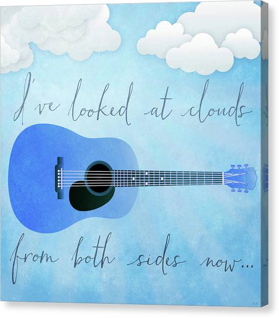 Joni Mitchell Canvas Print - I've Looked At Clouds From Both Sides Now by Little Bunny Sunshine