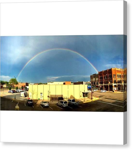 South Dakota Canvas Print - Rainbow by Britni Hemmer