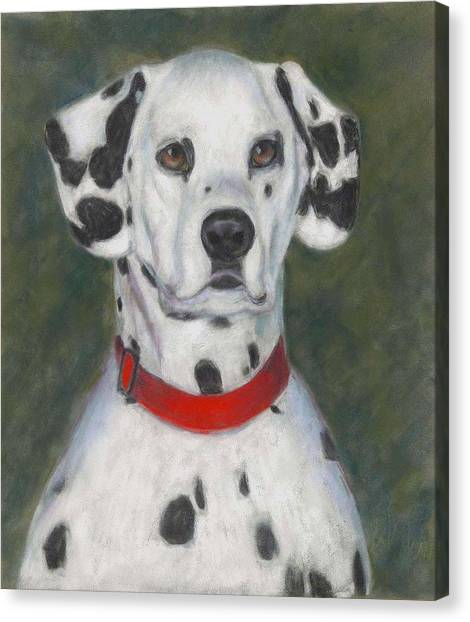 Dalmations Canvas Print - I've Spotted You by Billie Colson