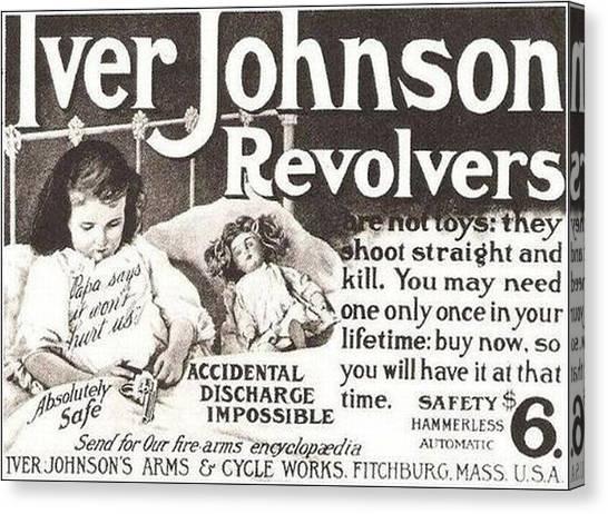 Iver Johnson Revolvers Canvas Print