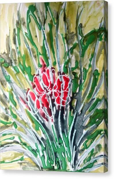 Ivine Flowers Canvas Print by Baljit Chadha