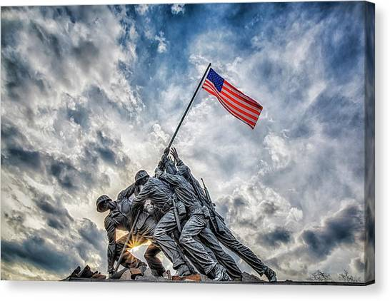 Susan Canvas Print - Iwo Jima Memorial by Susan Candelario