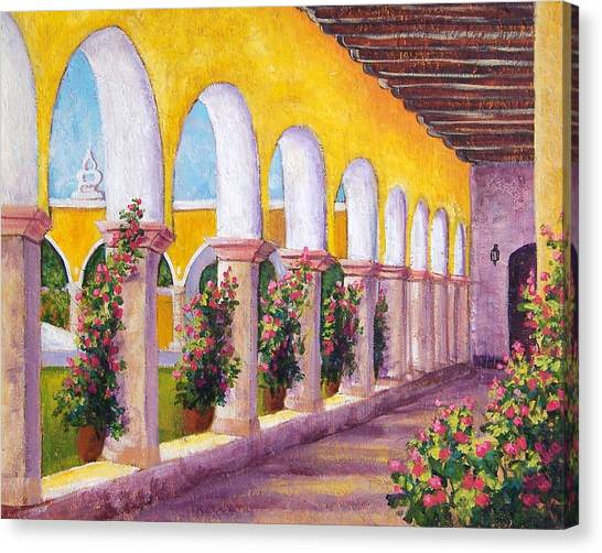 Izamal Arches Canvas Print by Candy Mayer