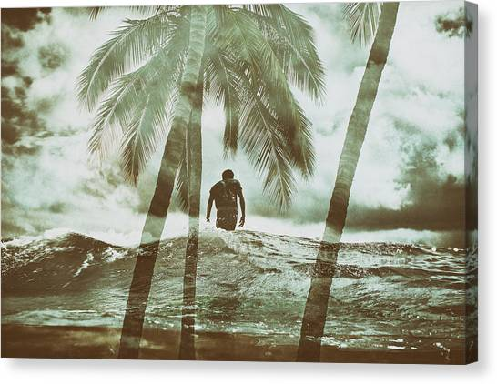 Izzy Jive And Palms Canvas Print