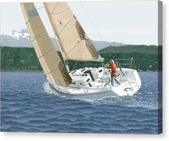 J-109 Sailboat Sail Boat Sailing 109 Canvas Print