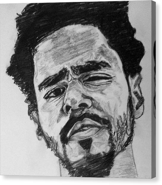 Hip Hop Canvas Print - J. Cole by Rachel Natalie Rawlins