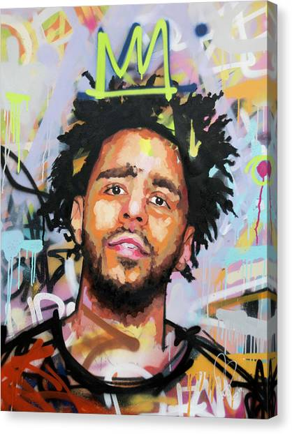 Jay Z Canvas Print - J Cole by Richard Day