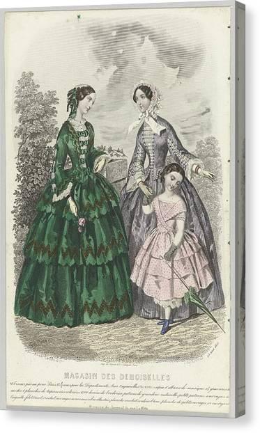 Demoiselles Canvas Print - J. Desjardins, Digeon, by Celestial Images