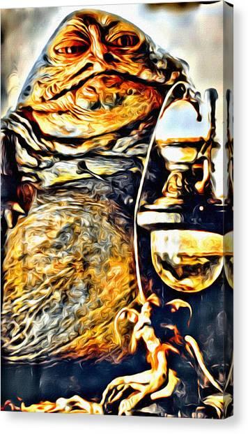 Jabba The Hutt Canvas Print - Jabba Portrait by Modern Art