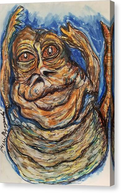 Jabba The Hutt Canvas Print - Jabba The Hutt Exercise by Geraldine Myszenski