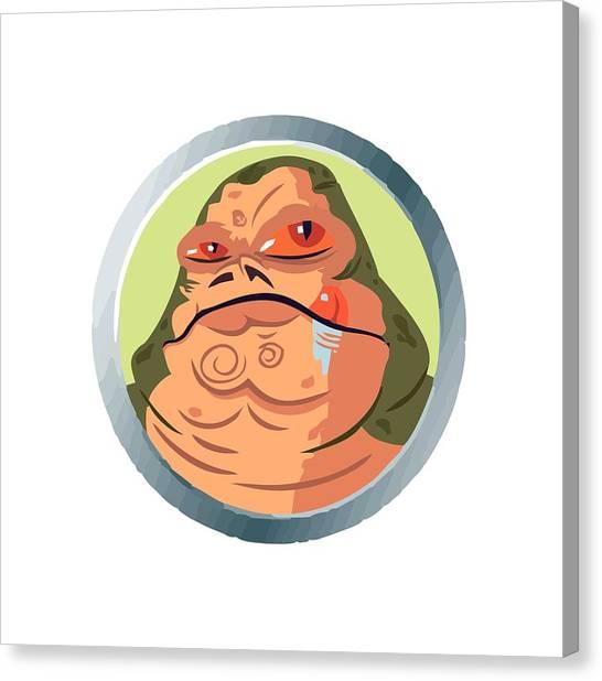 Jabba The Hutt Canvas Print - Jabba The Hutt by Lenka Jenar