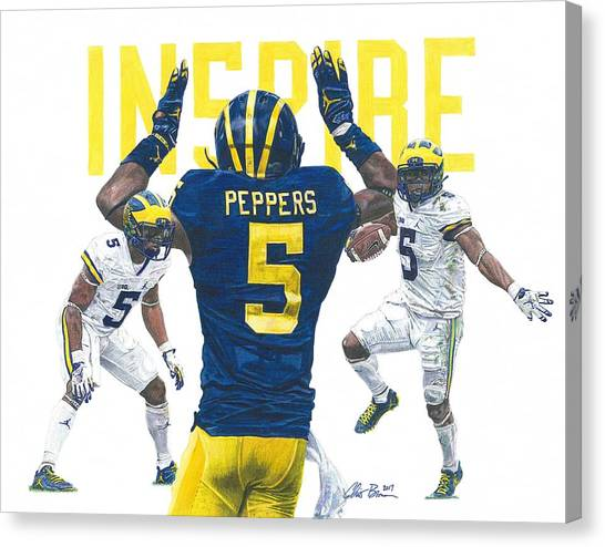 Jabrill Peppers Canvas Print