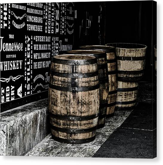 Canvas Print - Jack Daniel's Tennessee Whiskey Barrels by Mountain Dreams