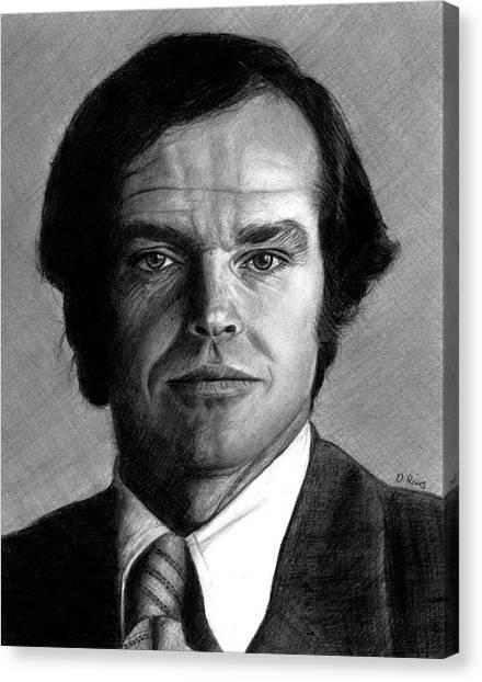 Jack Nicholson Portrait Canvas Print