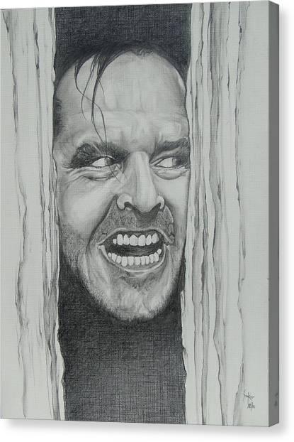 Jack Nicholson Canvas Print by Stephen Sookoo