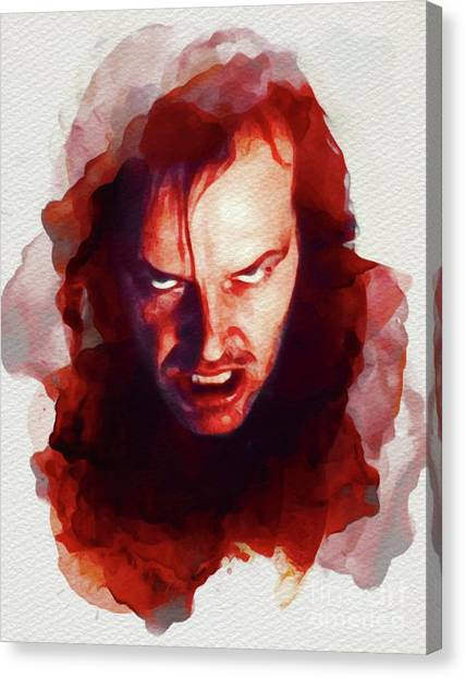 Jack Nicholson Canvas Print - Jack Nicholson, The Shining by John Springfield