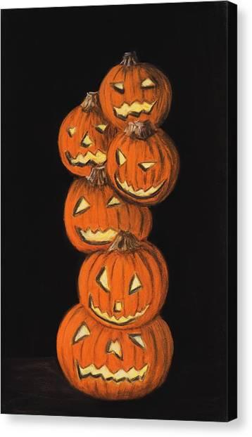 Jack-o-lantern Canvas Print