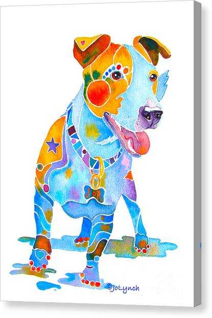 Jack Russell Terrier Colorful Painting Canvas Print