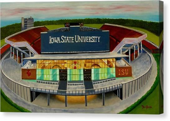 Iowa State University Canvas Print - Jack Trice Stadium by Dee House
