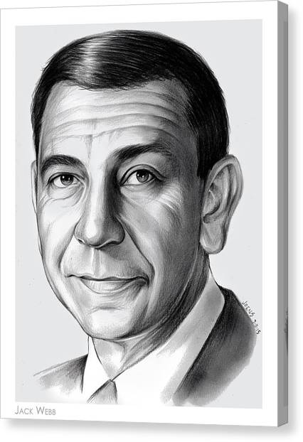 Police Canvas Print - Jack Webb by Greg Joens
