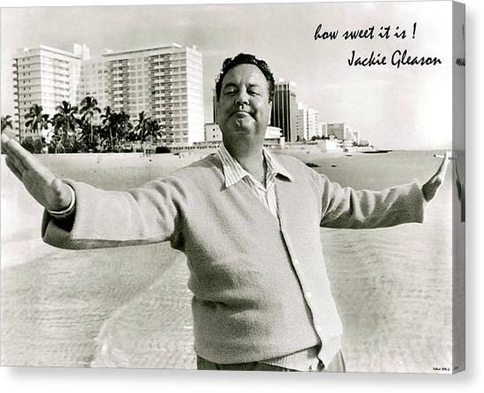 Burt Reynolds Canvas Print - Jackie Gleason, How Sweet It Is, Miami Beach, Fl by Thomas Pollart