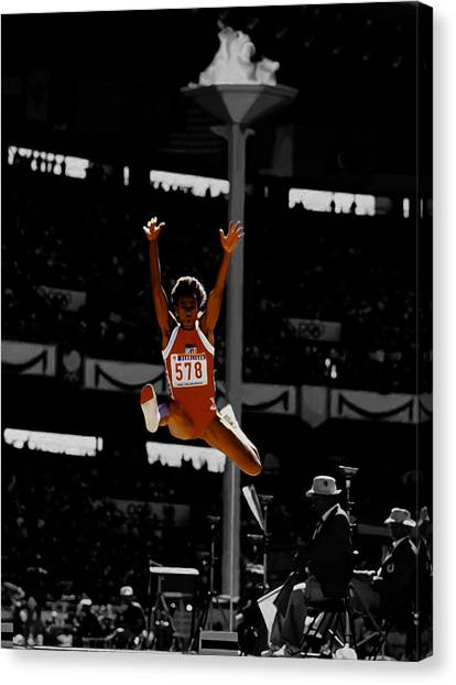 Andre Agassi Canvas Print - Jackie Joyner Kersee by Brian Reaves