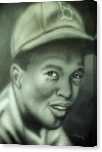 Jackie Robinson Canvas Print by Scott Easom