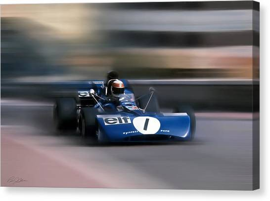 Formula 1 Canvas Print - Jackie Stewart The Flying Scot by Peter Chilelli
