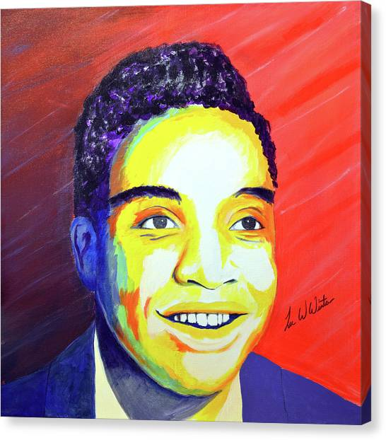 Canvas Print - Jackie Wilson by Lee Wolf Winter