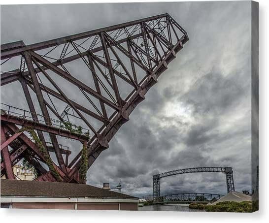 Jackknife Bridge To The Clouds Canvas Print