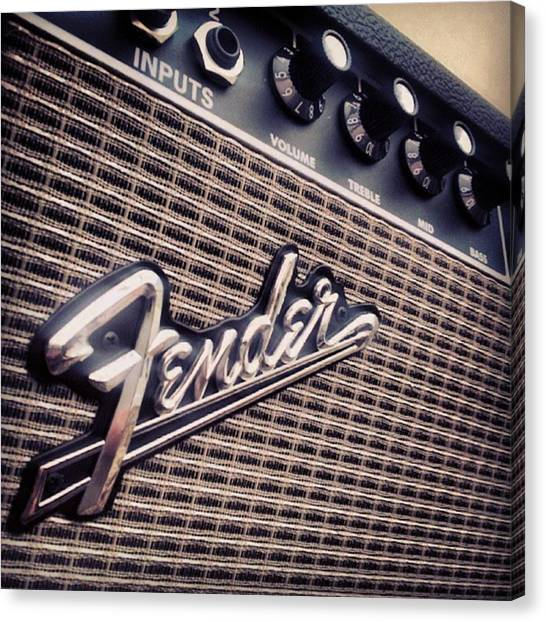 Fender Guitars Canvas Print - Music 1 by Bryony Ledger