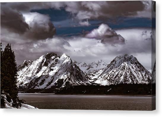 Jackson Lake Peaks Canvas Print