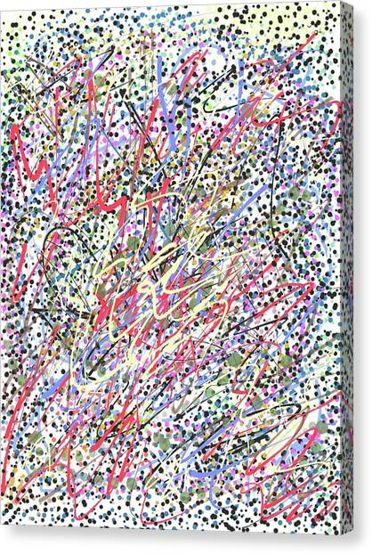 Jackson Pollock Style Digital  Canvas Print by Marita McVeigh