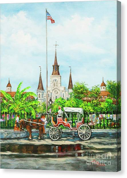 Jackson Square Carriage Canvas Print