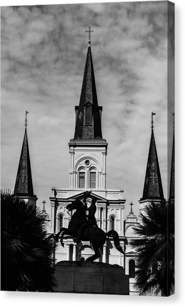 Jackson Square - Monochrome Canvas Print