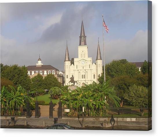 Jackson Square Morning Canvas Print by Jack Herrington