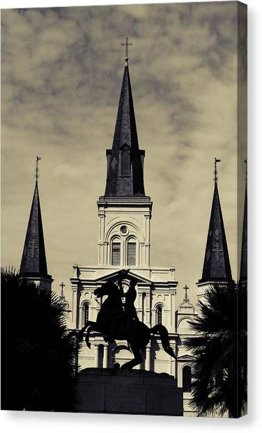 Jackson Square - Split Tone Canvas Print
