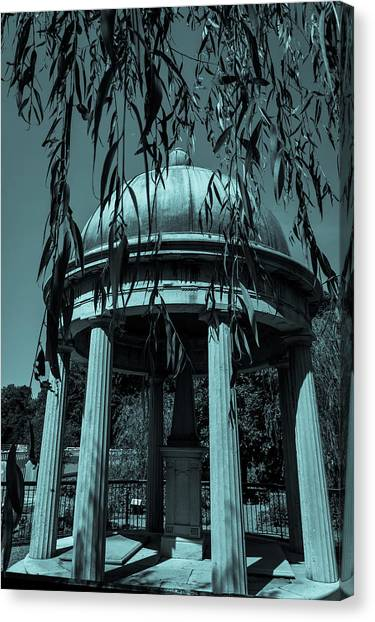 Canvas Print featuring the photograph Jackson Tomb by James L Bartlett
