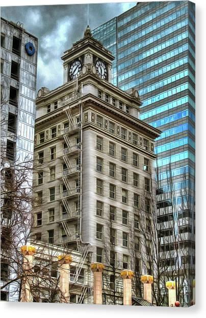 Jackson Tower Portland Oregon Canvas Print