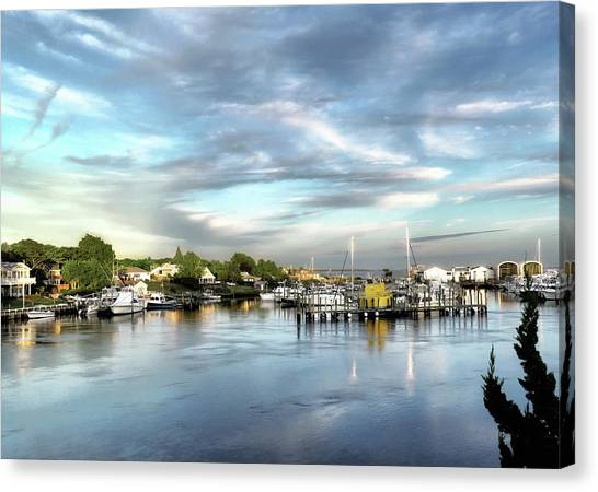 Hampton Bays Marina Canvas Print