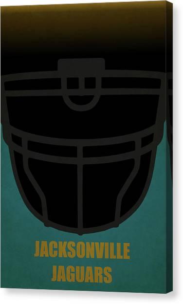 Superbowl Canvas Print - Jacksonville Jaguars Helmet Art by Joe Hamilton