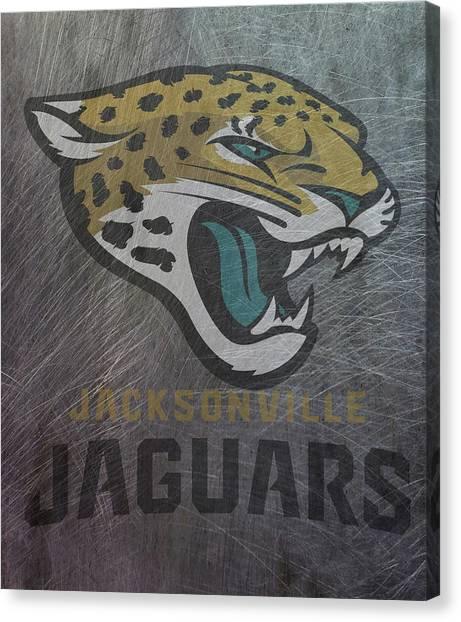 Jacksonville Jaguars Canvas Print - Jacksonville Jaguars Translucent Steel by Movie Poster Prints