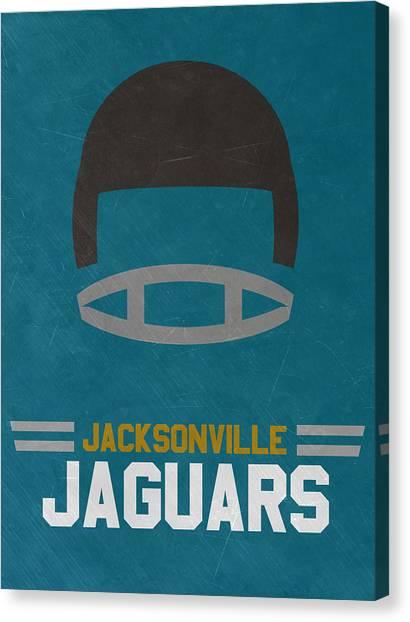 Jacksonville Jaguars Canvas Print - Jacksonville Jaguars Vintage Art by Joe Hamilton