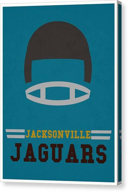 Jacksonville Jaguars Canvas Print - Jacksonville Jaguars Vintage Nfl Art by Joe Hamilton