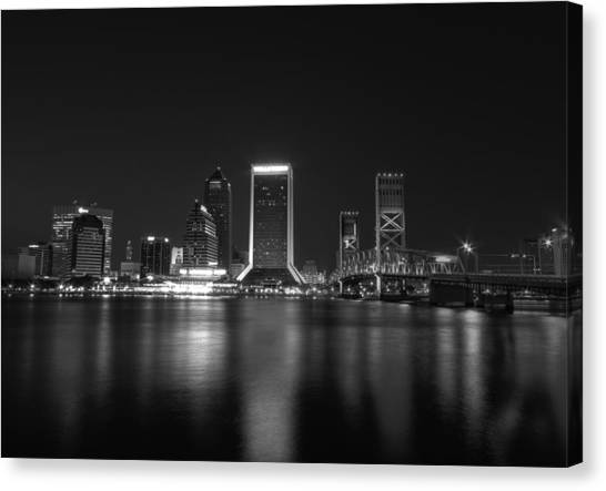 Jacksonville Landing At Night Canvas Print