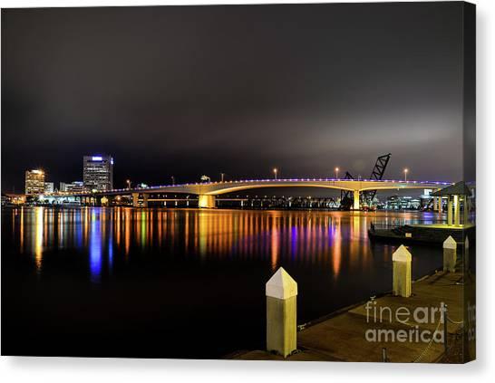 Jacksonville Night Sky Canvas Print