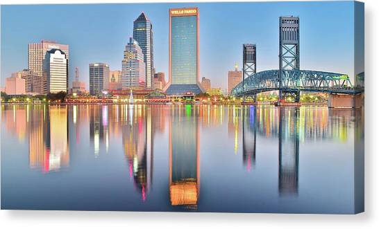 Jacksonville Jaguars Canvas Print - Jacksonville Reflecting by Frozen in Time Fine Art Photography