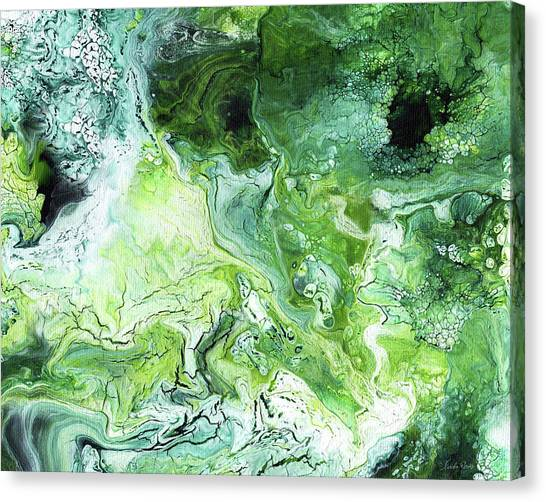 Limes Canvas Print - Jade- Abstract Art By Linda Woods by Linda Woods
