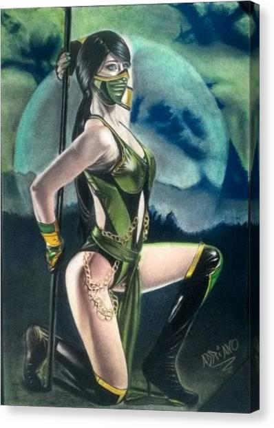 Mortal Kombat Canvas Print - Jade by Adriano Altamir