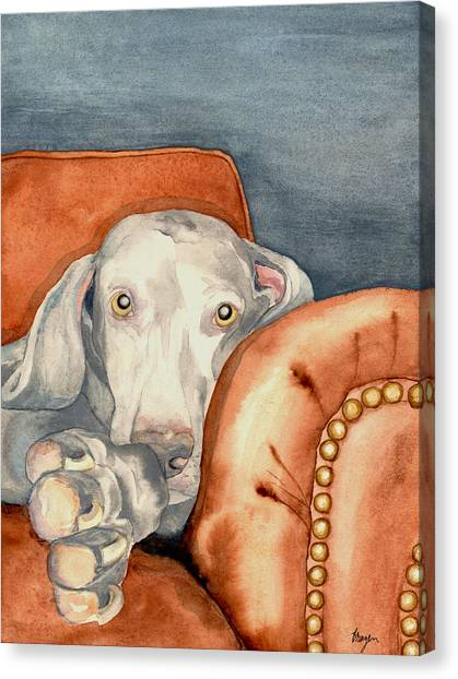 Weimaraners Canvas Print - Jade by Brazen Design Studio